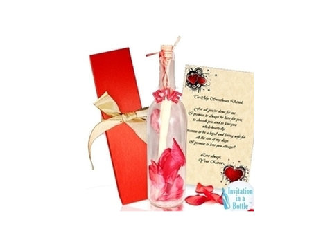 Invitation In A Bottle - Gifts & Flowers