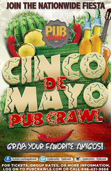 10th Annual Cinco de Mayo Fiesta Pub Crawl Hoboken - May 2020