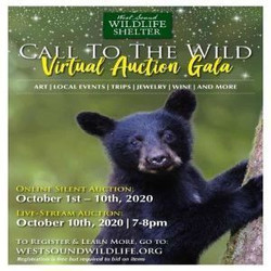 16th annual Call to the Wild! Virtual Auction benefiting West Sound Wildlife Shelter