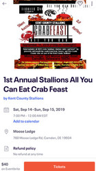 1st Annual Kent County Ayce Crab Feast and More!