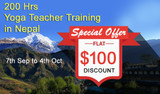 200 Hour Yoga Teacher Training Begins this September in Pristine Pokhara