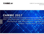 2017 International Conference on Aerospace, Mechanical and Mechatronic Engineering(CAMME 2017)