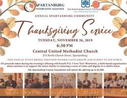 2019 Annual Spartanburg Community Thanksgiving Service