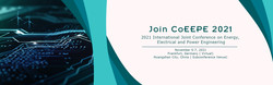 2021 International Joint Conference on Energy, Electrical and Power Engineering (CoEEPE 2021)