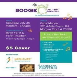 2nd Annual Boogie on the Bayou-A Benefit for NephCure Kidney International