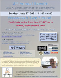 2nd Annual Jess A Corch Memorial for Glioblastoma Research Benefit June 27, 2021 and online
