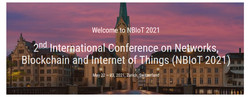 2nd International Conference on Networks, Blockchain and Internet of Things (NBIoT 2021)