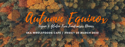 3 Course Autumn Equinox Fundraiser Dinner