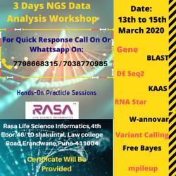 3 Days Ngs Data Analysis Workshop : Variant Calling, RNAseq, ChIPseq