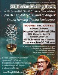 33 Tibetan Healing Bowls, Essential Oils & Chocolate in Littleton, Co