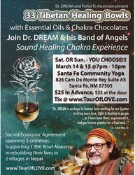 33 Tibetan Healing Bowls, Essential Oils & Chocolate in Santa Fe, Nm