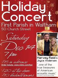 4th annual Harvey Reid and Joyce Andersen Holiday concert