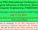 5th Intl.Conf on Tech Advances in Electrical, Electronics & Computer Engg