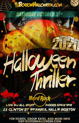 6th Annual Hard Rock Boston Halloween Thriller Party - October 31, 2020