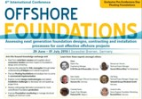 6th International Conference Offshore Foundations 2016