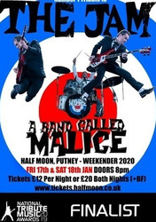 A Band Called Malice: The Definitive Tribute to The Jam at Half Moon 17 Jan