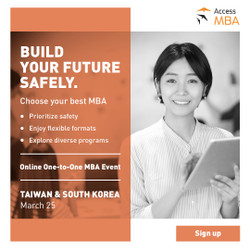 Access Mba Tour Online event in South Korea and Taiwan