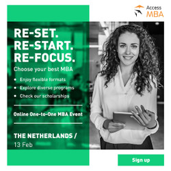 Access Mba online in The Netherlands!
