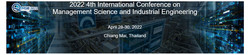 Acm--2022 4th International Conference on Management Science and Industrial Engineering (msie 2022)