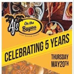 Aj's on the Bayou 5 year Celebration!