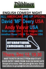All American special - 6 comics - english comedy night at Dubliner