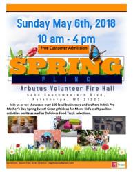 Arbutus Spring Fling May 6, 2018
