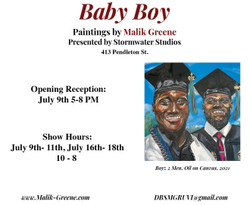 Baby Boy: Paintings by Malik Greene
