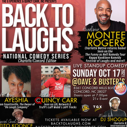 Back To Laughs Comedy Series | Charlotte/Concord, North Carolina Edition on October 17th!