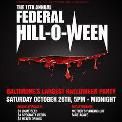 Baltimore Halloween Event 11th Annual Federal Hill-O-Ween Bar Crawl