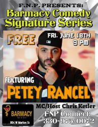 Barmacy Comedy Signature Series Featuring Petey Rancel