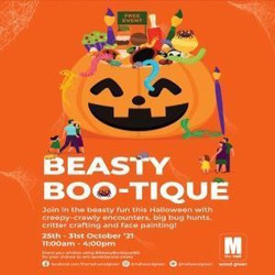 Beasty Boo-tique October Half Term Fun at The Mall, Wood Green