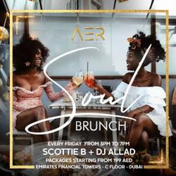 Best Dubai Brunch every Friday with Dj Scottie B at Aer Lounge, Difc, DUBAi, Uae