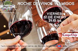 Bilingual Wine & Tapas Evening In La Latina (Friday, January 12th)