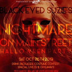 Black Eyed Suzie's Halloween Party 10/26