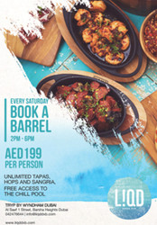 Book A Barrel Sunsets @ 199 aed from 2pm to 6pm every Saturday