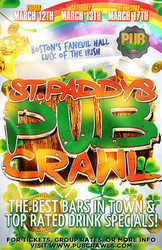 "Boston St Patrick's Day ""Luck of the Irish"" 3-Day Bar Crawl - March 2021"