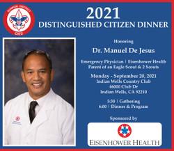 Boy Scouts of America Honors Dr. Manuel De Jesus - Emergency Physician/Eisenhower Health