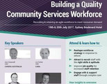 Building a Quality Community Services Workforce - Sydney July 2017