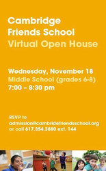 Cambridge Friends School Middle School Open House
