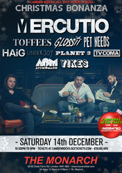 Camden Rocks Xmas Bonanza w/ Mercutio & more at The Monarch