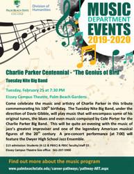 Charlie Parker Centennial - the Genius of Bird - Pbsc Tuesday Nite Big Band