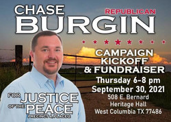 Chase Burgin for Jp 4-2 Campaign Kickoff Dinner