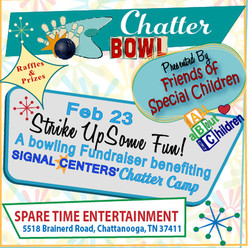 Chatter Bowl, Feb 23 at Spare Time Entertainment benefiting Chatter Camp