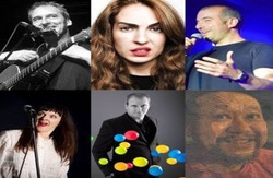 Collywobblers Comedy Lockdown Online Zoom Special : Boothby Graffoe, Stefano Paolini, Esther Manito,
