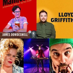 Collywobblers Comedy Lockdown Online Zoom Special : James Dowdeswell, Lloyd Griffith , Laura Smyth