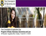 Consultation and Free Application day: The University of Queensland