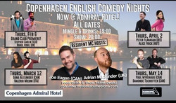 Copenhagen English Comedy Night, new venue! Thurs, Feb 6