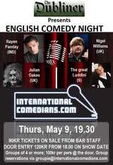 Copenhagen - English Stand-up Comedy Night @ Dubliner, Thurs, May 9