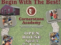 Cornerstone Academy Open House - April 5th 2pm