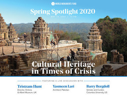 Cultural Heritage in Times of Crisis
